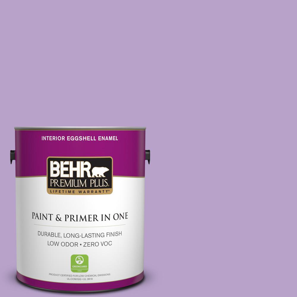 1-gal. #650B-4 Violet Fields Zero VOC Eggshell Enamel Interior Paint