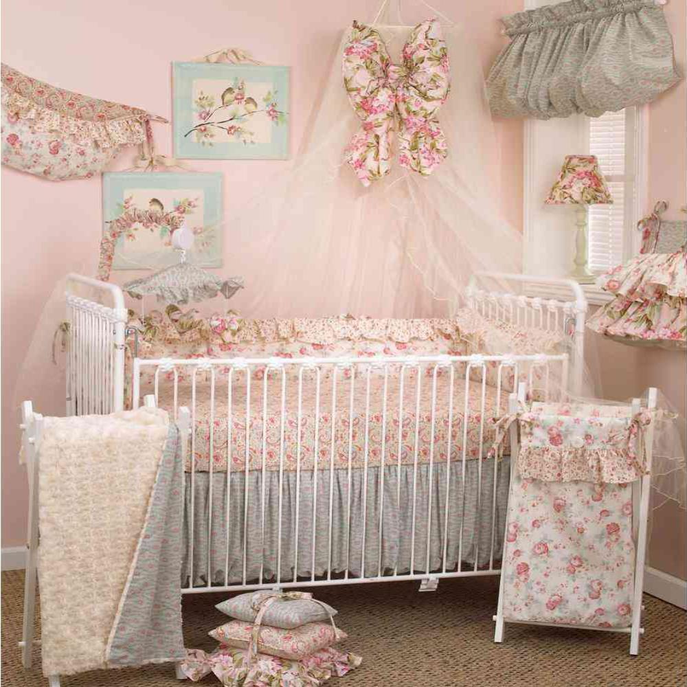 167eb41eb Cotton Tale Designs Tea Party Cotton 4 Sectional Crib Bumper Pads ...