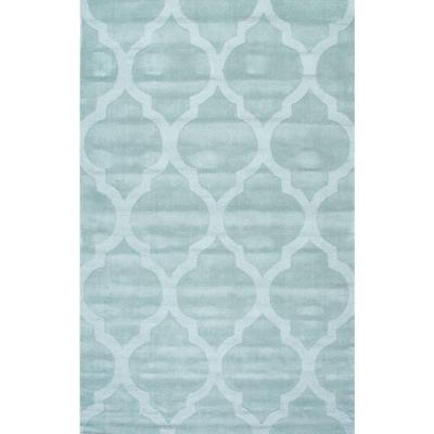 Maybell Geometric Moss 8 ft. x 10 ft. Area Rug