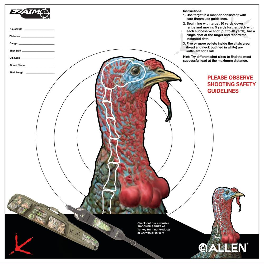 This is a photo of Vibrant Printable Turkey Head Target