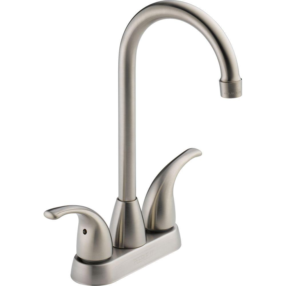 Peerless Choice 2-Handle Bar Faucet in Stainless-P288LF-SS - The ...