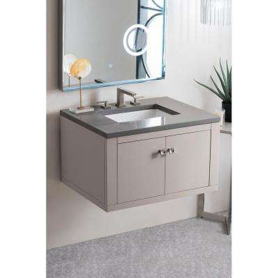 Silverlake 30 in. Single Bath Vanity in Mountain Mist with Quartz Vanity Top in Grey Expo with White Basin