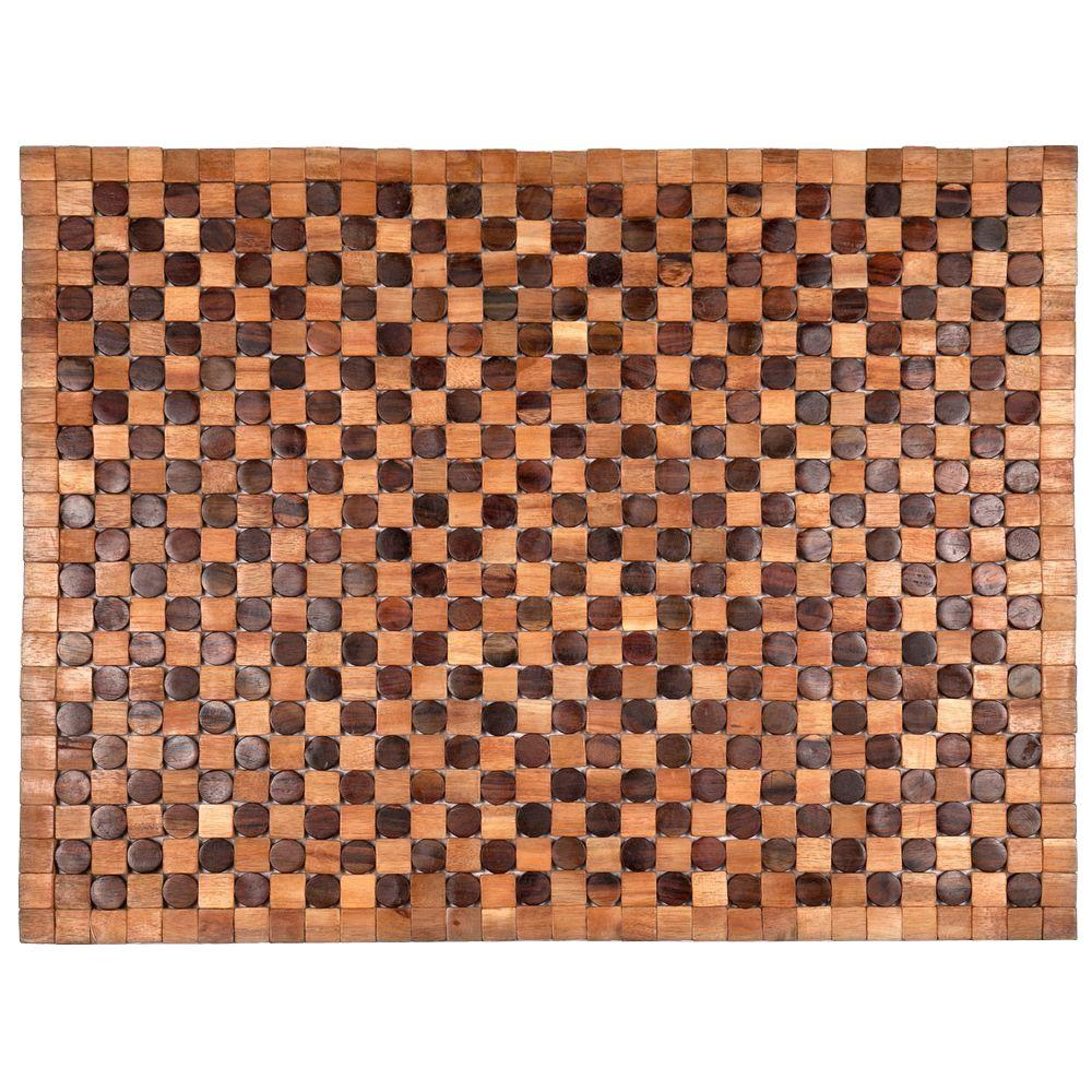 Entryways Adams Natural 18 in. x 30 in. Exotic Wood Mat
