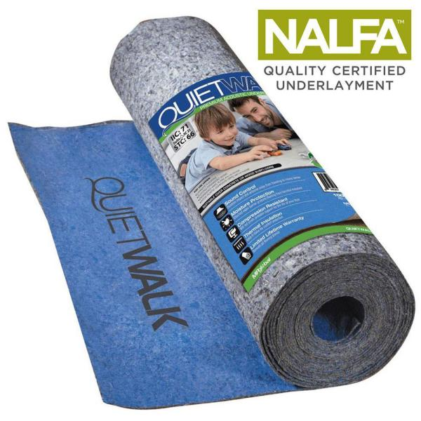 360 sq. ft. 6 ft. x 60 ft. x 3 mm Underlayment w/Sound Barrier and Moisture Barrier for Laminate and Engineered Flooring
