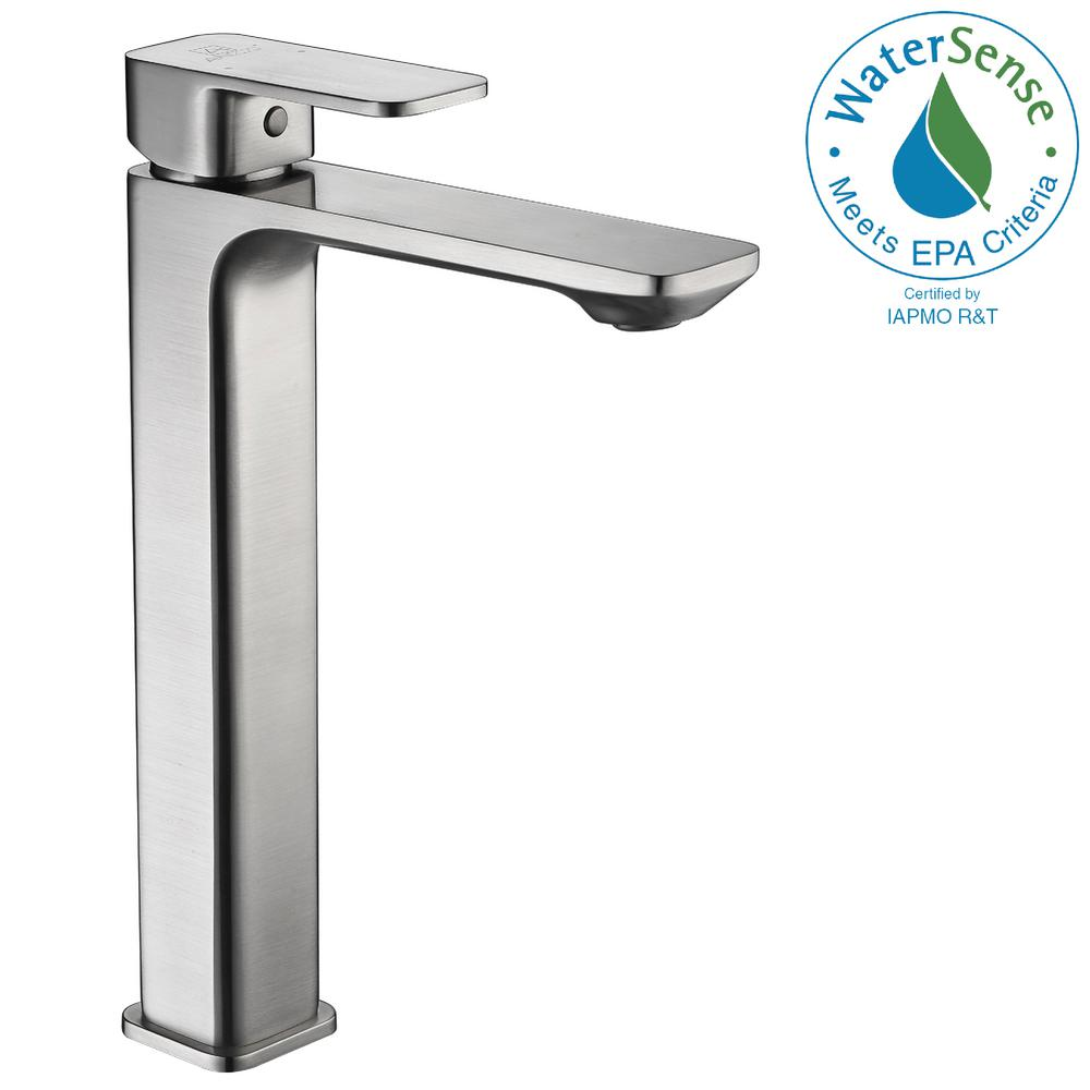 Vibra Single Hole Single-Handle Bathroom Faucet in Brushed Nickel