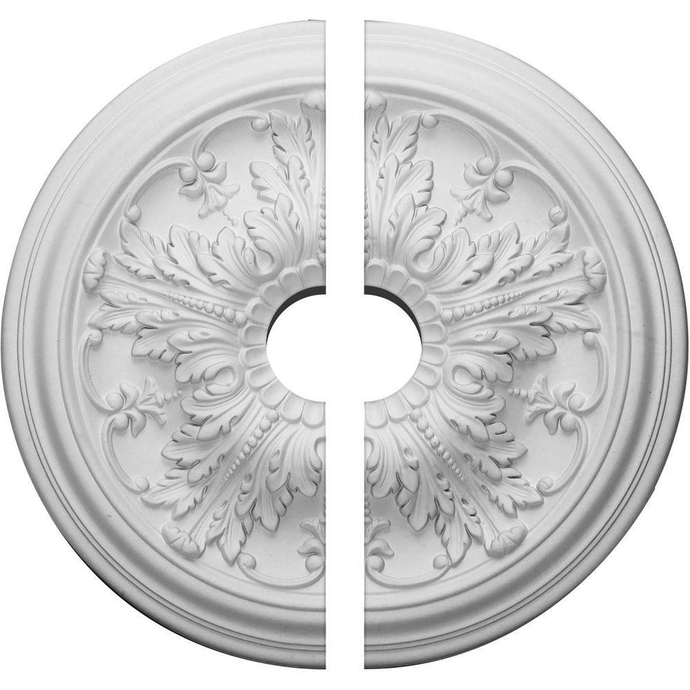 20 in. O.D. x 3-1/2 in. I.D. x 1-1/2 in. P Damon Ceiling Medallion (2-Piece)