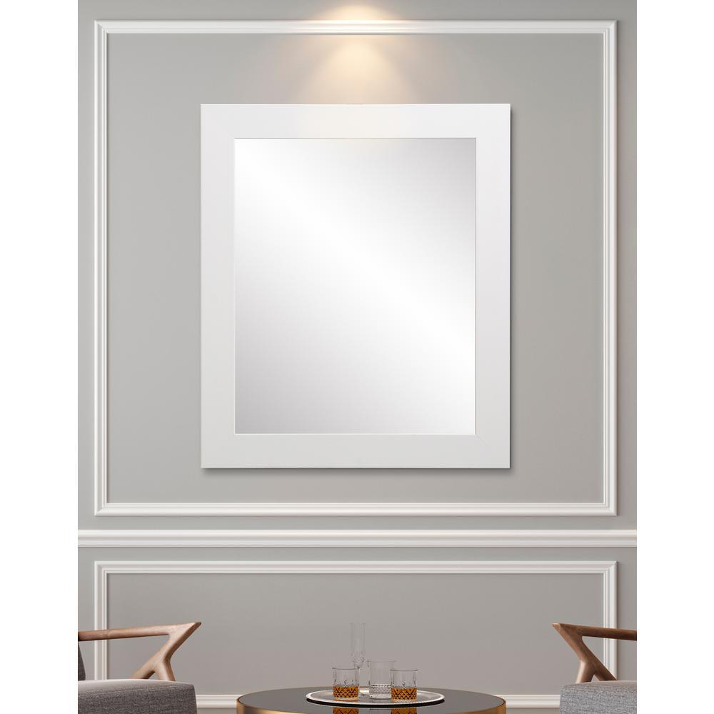 Vision 32 in. W x 41 in. H Framed Rectangular Bathroom Vanity Mirror in Matte White