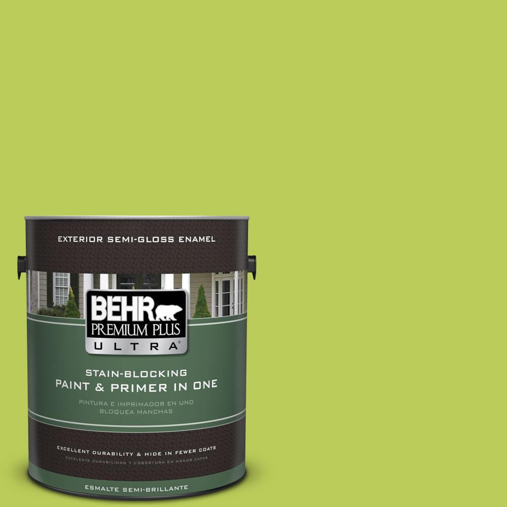 BEHR Premium Plus Ultra 1-gal. #410B-5 Hidden Meadow Semi-Gloss Enamel Exterior Paint