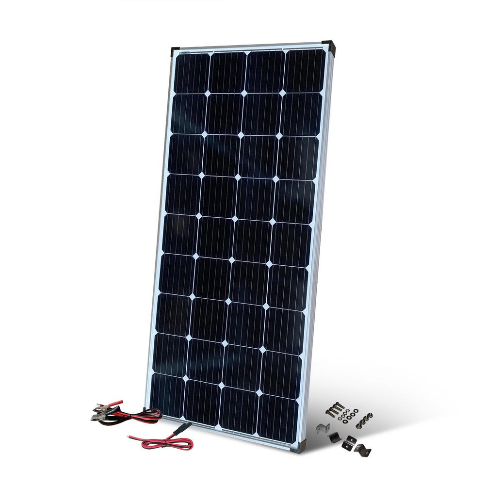 Nature Power 200 Watt Monocrystalline Solar Panel With 13 Amp Charge Controller 50200 The Home Depot