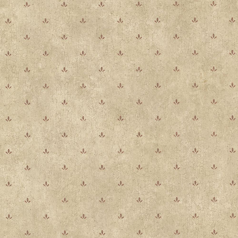 Josie Burgundy Paw Print Texture Wallpaper