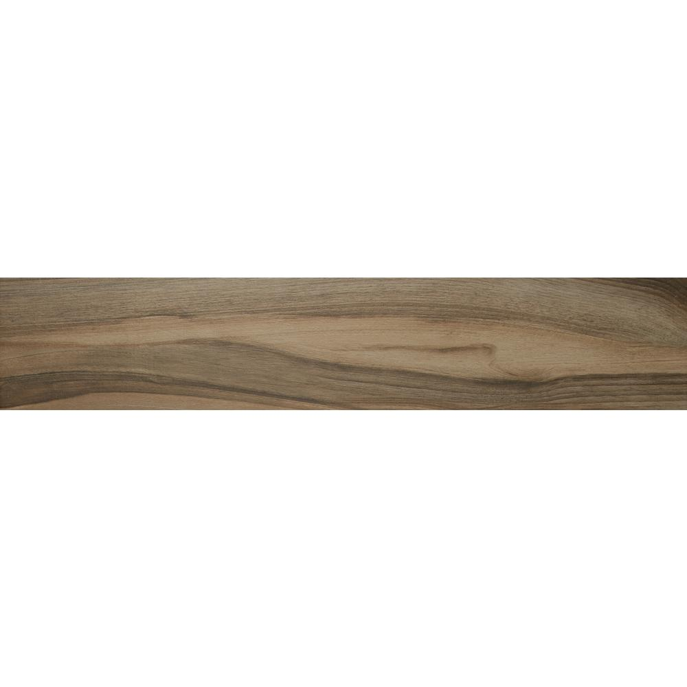 Aspenwood Cafe 9 in. x 48 in. Glazed Porcelain Floor and
