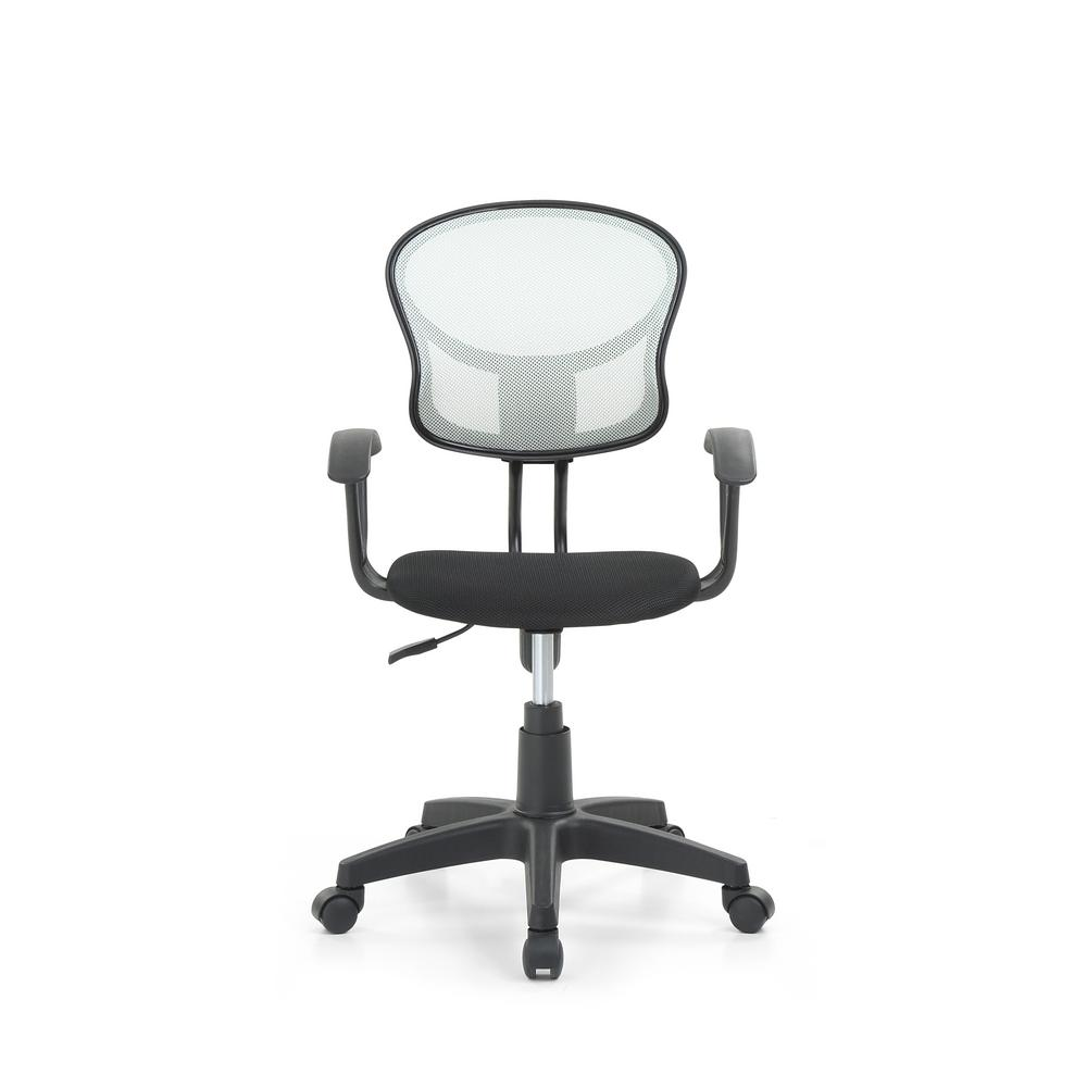 Grey Mesh, Mid-Back, Adjustable Height, Swiveling Task Chair with Padded Seat