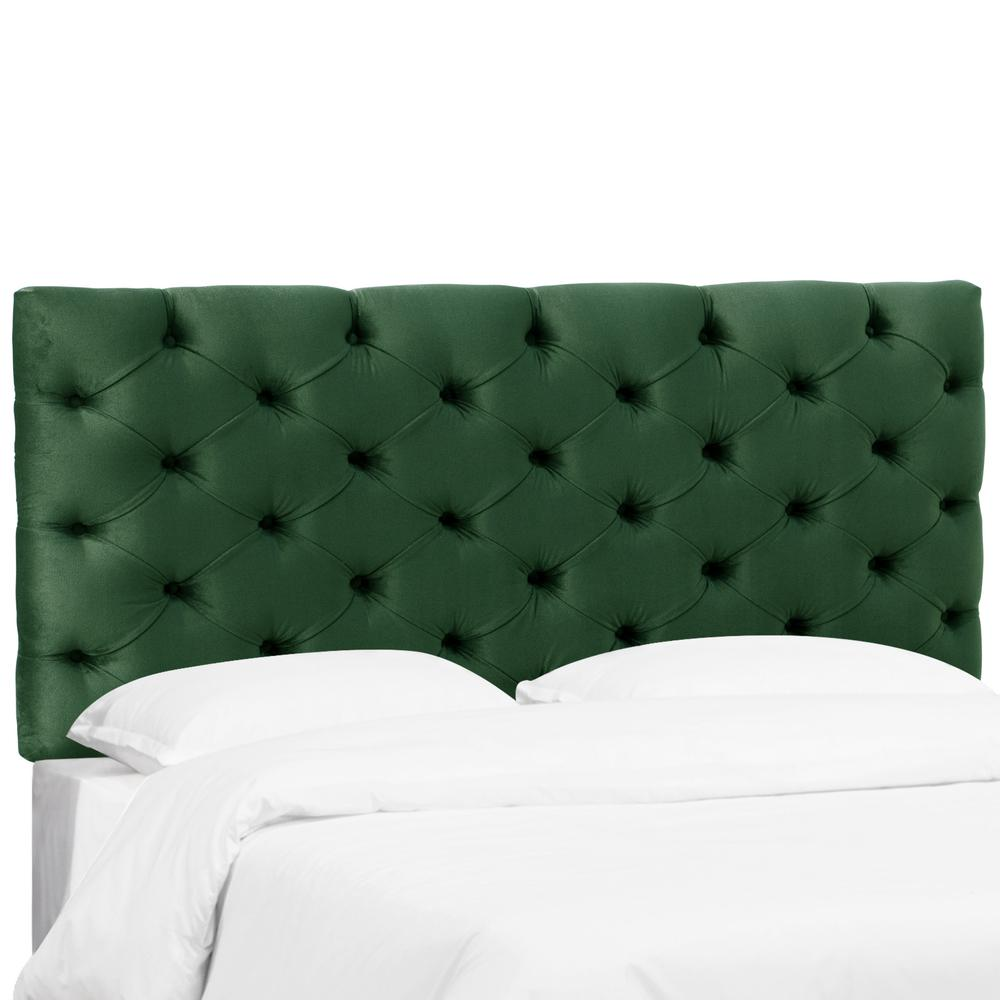 Mystere Jade California King Horizontal Tufted Headboard