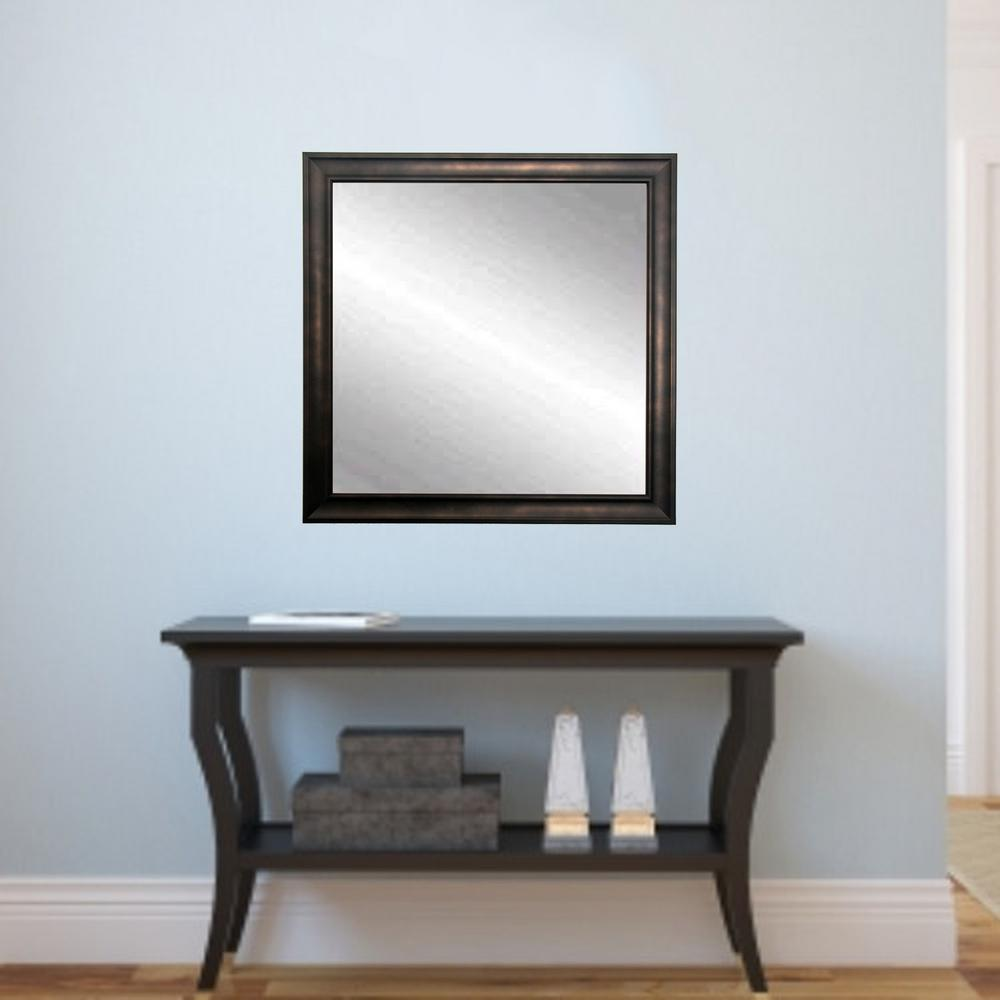 Traditional Clouded Bronze Framed Mirror-BM013SQ - The Home Depot