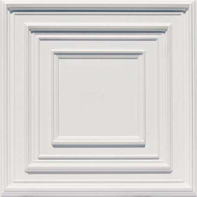 Schoolhouse 2 ft. x 2 ft. PVC Glue-up or Lay-in Ceiling Tile in White Matte