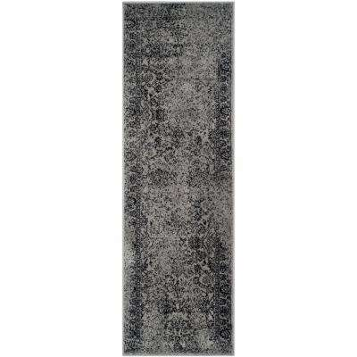 Adirondack Grey/Black 3 ft. x 16 ft. Runner Rug