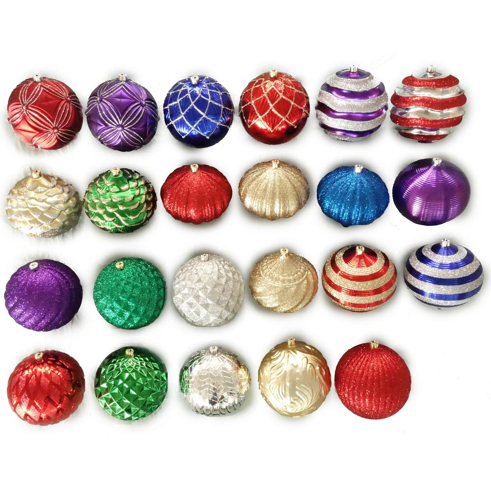 HomeAccentsHoliday Home Accents Holiday 8 in. Assorted Shatter-Resistant Ornament, Multi