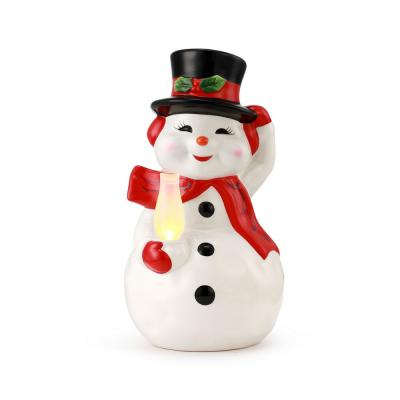 10 in Porcelain Snowman