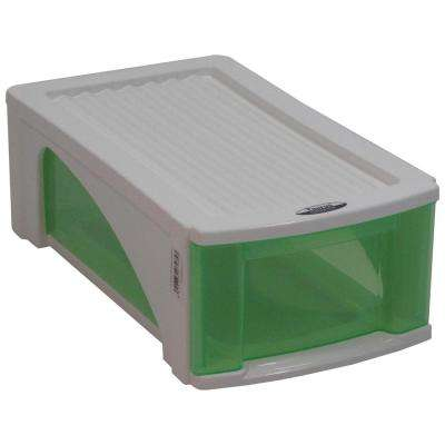 B5 Candy Single Pair Green Drawer Shoe Organizer