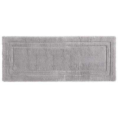 Imperial 24 in. x 60 in. Cotton Runner Bath Rug in Gray