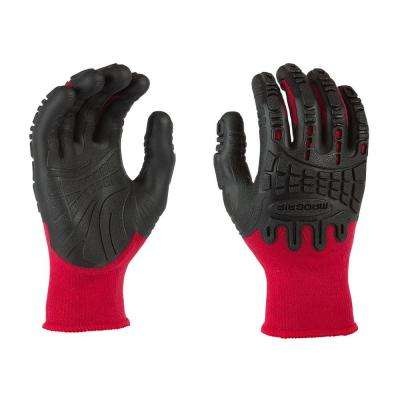 Thunderdome Impact Medium Flex Glove in Red/Black