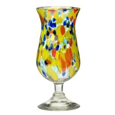 Carnaval 6-Piece Multicolor Glass Hurricane Drinkware Set with 16 oz. Capacity