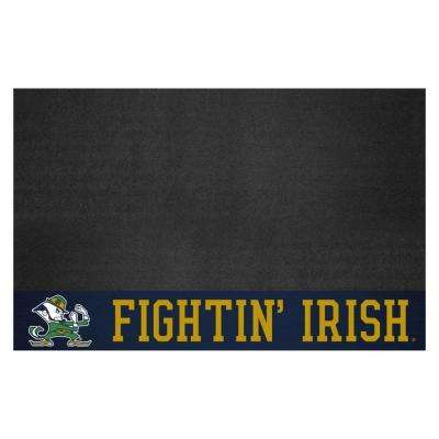 NCAA 26 in. x 42 in. Notre Dame Grill Mat