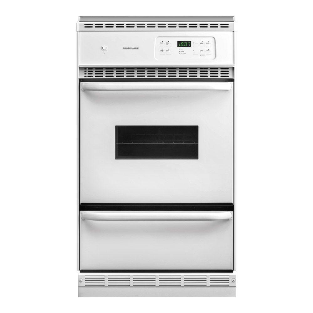 Frigidaire 24 in. Single Gas Wall Oven Self-Cleaning in White