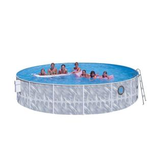 Heritage Pools Seaview Club 12 Ft X 42 In Round Pool Package With Porthole Svc 1242 Jcp The