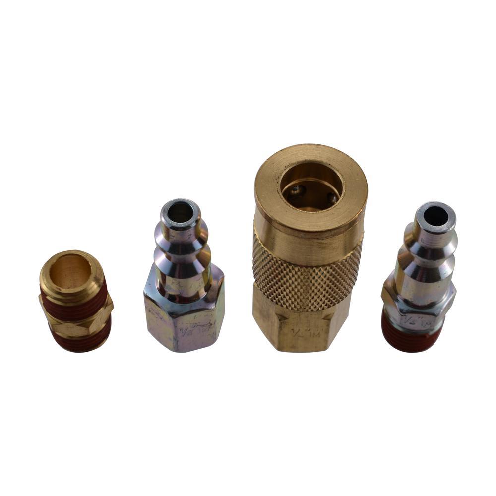 "1//4/"" NPT Quick Coupler Air Line Hose Compressor Fittings Connector Tool"