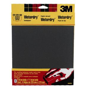 3M 9 inch x 11 inch 220, 320, 400-Grit Fine, Extra Fine, and Super Fine Silicon Carbide... by 3M