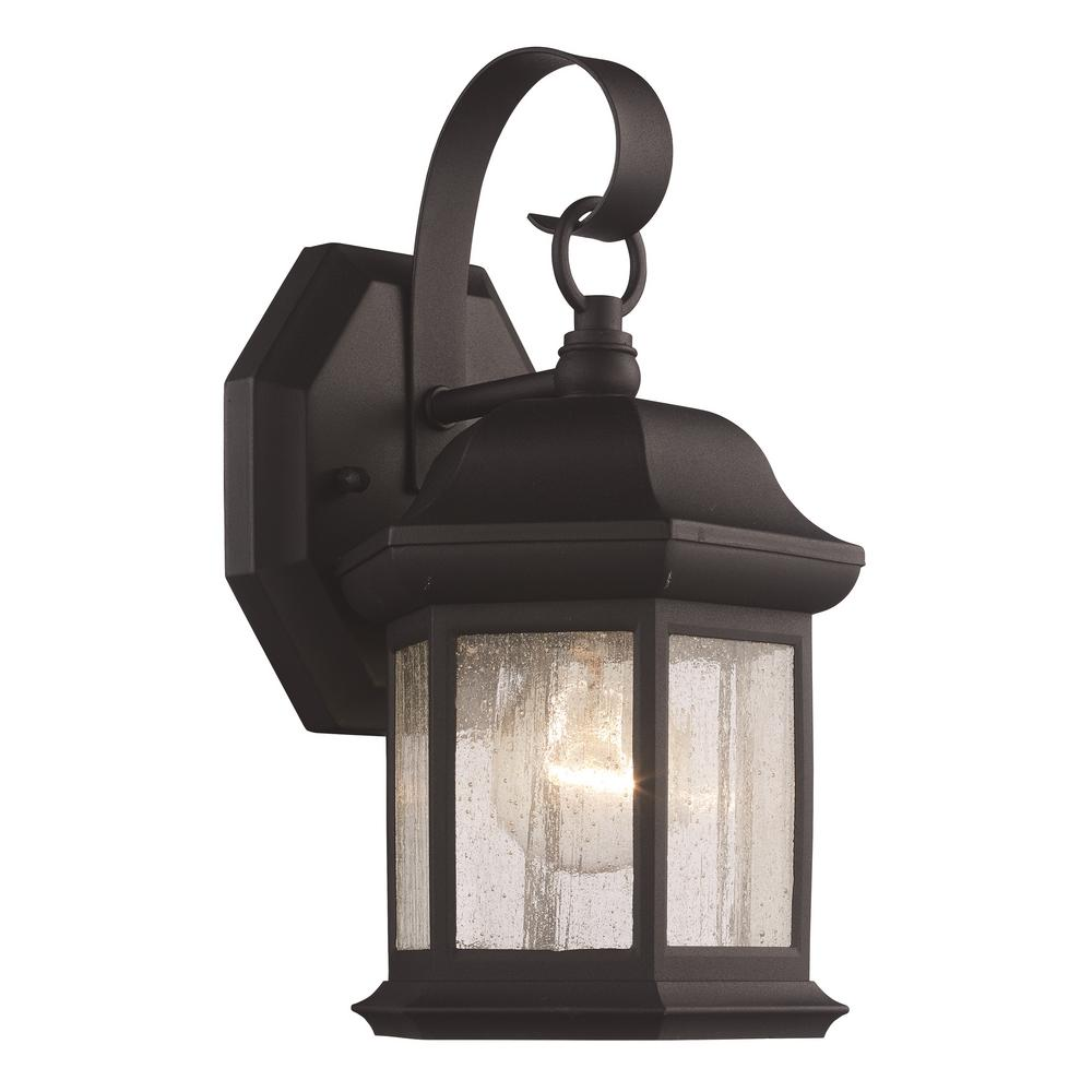 Bel Air Lighting 1 Light Black Outdoor Wall Lantern Sconce