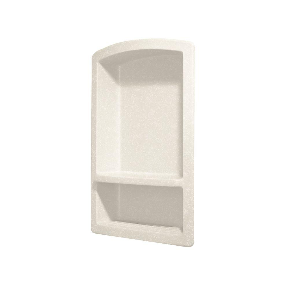 Swan Recessed Solid Surface Soap Dish in Tahiti Ivory