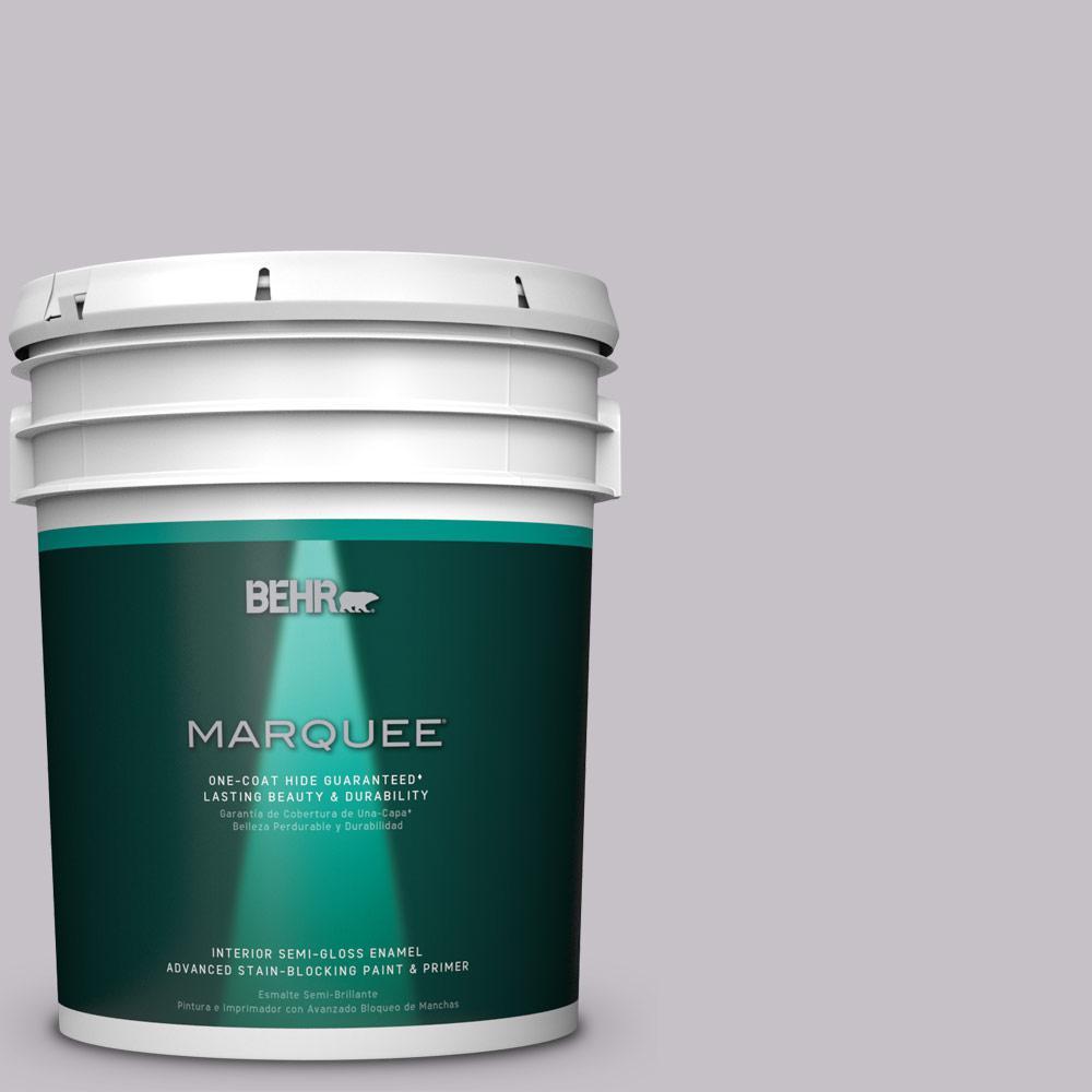 5 gal. #MQ5-32 Such Melodrama One-Coat Hide Semi-Gloss Enamel Interior Paint