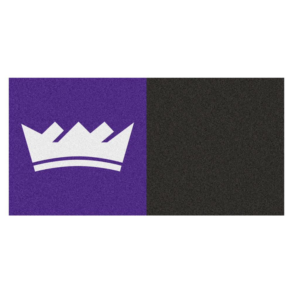 FANMATS NBA Sacramento Kings Black and Violet Pattern 18 in. x 18 in. Carpet Tile (20 Tiles/Case)