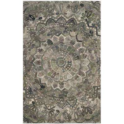 Marquee Gray/Multi 5 ft. x 8 ft. Area Rug