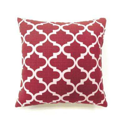 Xia 22 in. Contemporary Standard Throw Pillow in Red