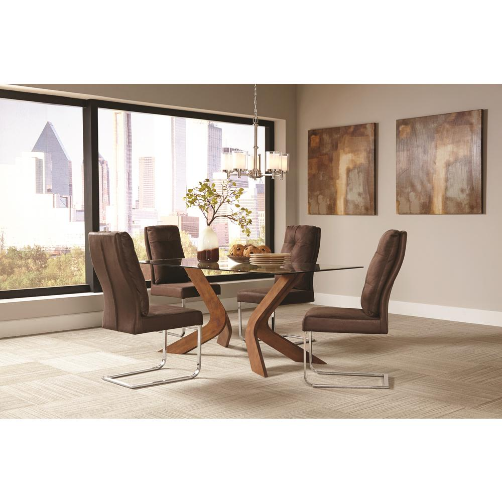 Coaster Furniture San Vicente Collection Brown Dining Cha...