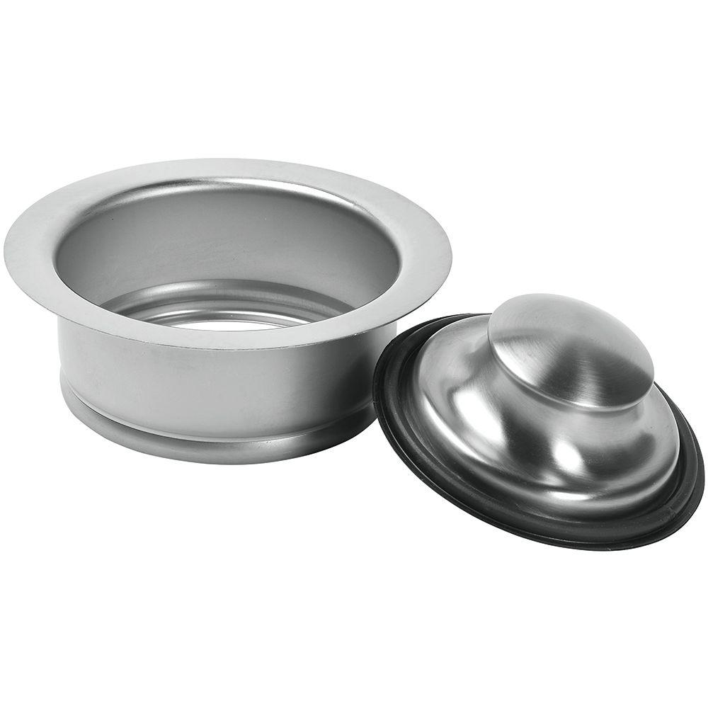 Garbage Disposal Rim and Stopper in Brushed Nickel