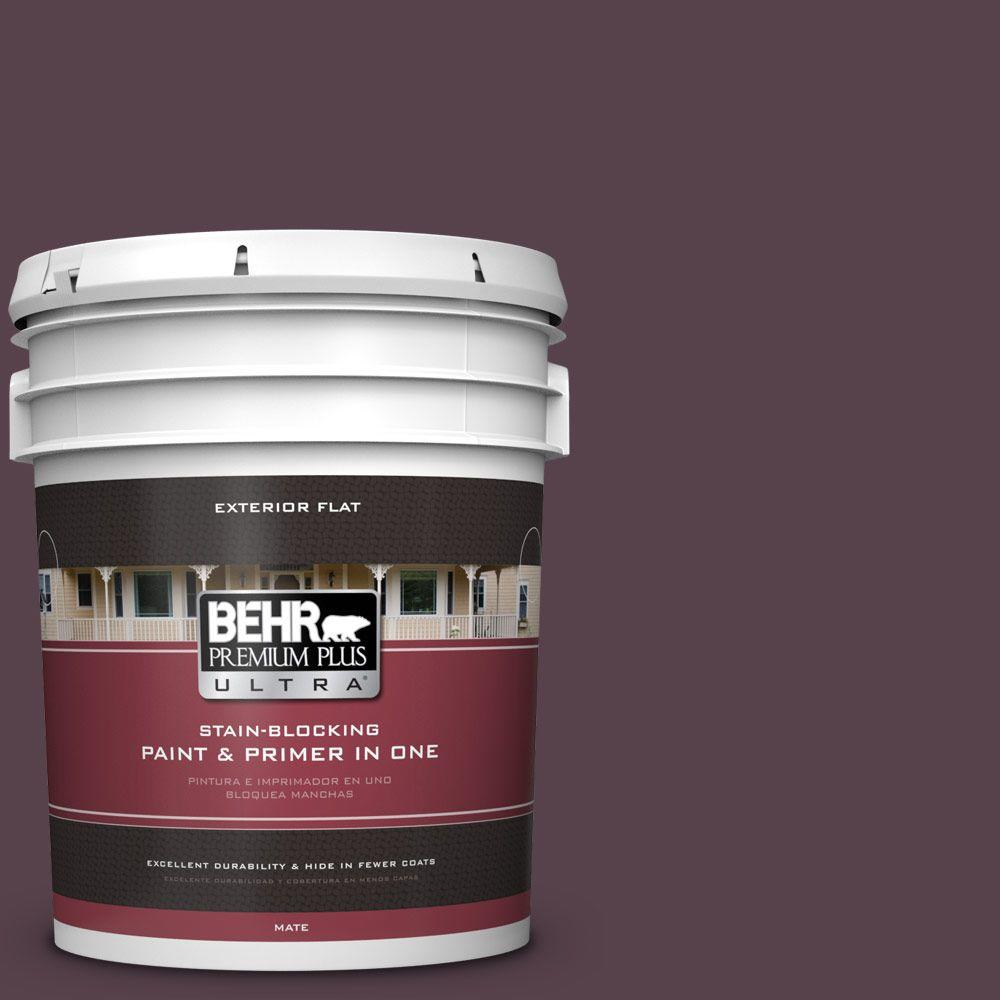 BEHR Premium Plus Ultra 5-gal. #T15-4 Your Majesty Flat Exterior Paint
