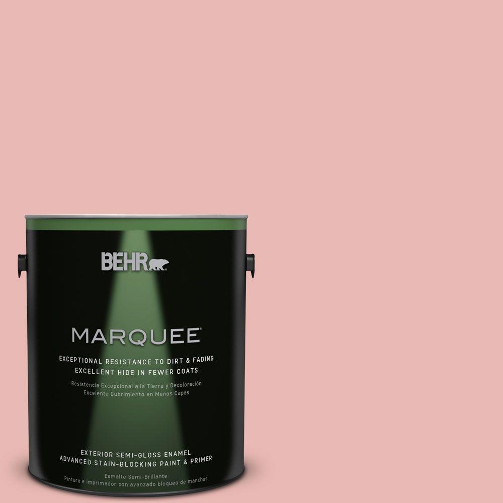 1 gal. #MQ4-4 Noble Blush Semi-Gloss Enamel Exterior Paint