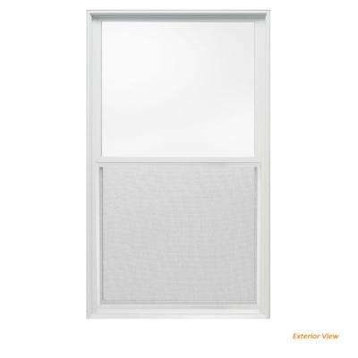 33.375 in. x 56 in. W-2500 Series White Painted Clad Wood Double Hung Window w/ Natural Interior and Screen