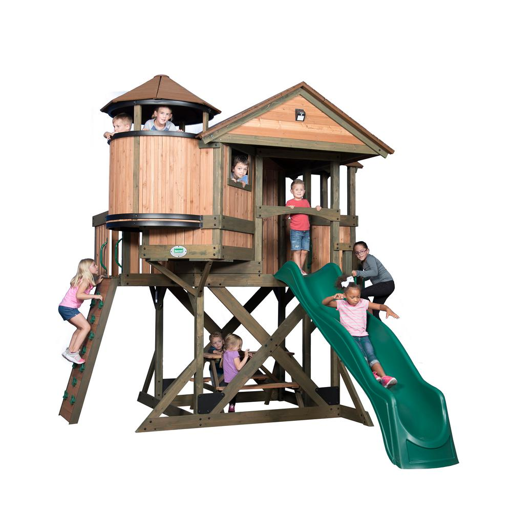 Eagles Nest All Cedar Playset
