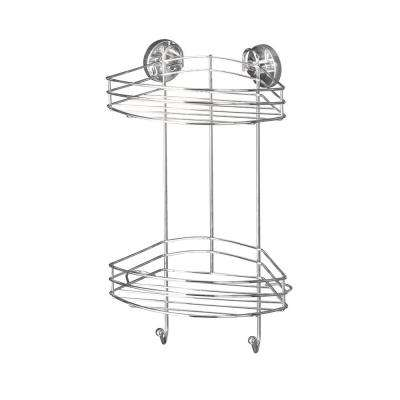 Vacuum Loc 2-Tier Corner Rack in Chrome