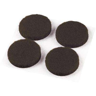 3/4 in. Med Duty Brown Felt Pad (12-Pack)