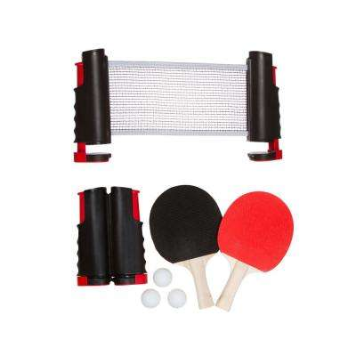 6 ft. Portable and Lightweight Ping Pong Game Set in Red