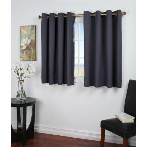 Click here to buy  Blackout Ultimate Blackout 56 inch W x 54 inch L Curtain Panel in Blue.