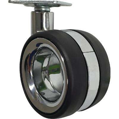 3 in. Vacant Twin Wheel Caster with 121 lbs. Load Capacity