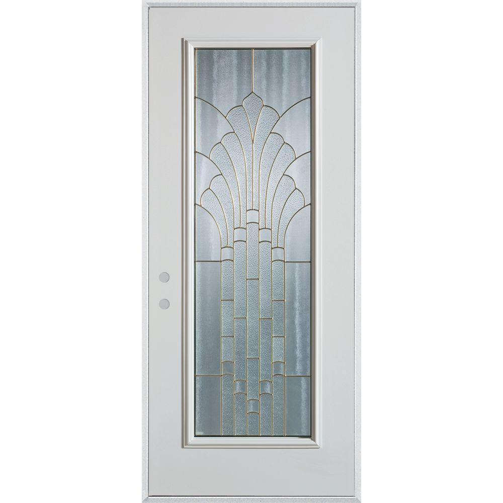 Stanley Doors 37 375 In X 82 375 In Art Deco Full Lite