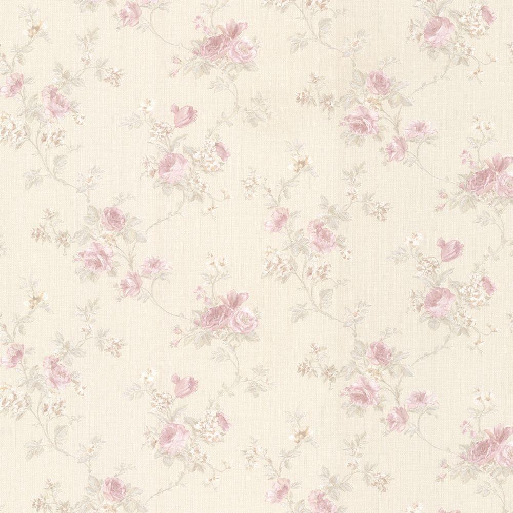 Princess Blush Floral Trail Wallpaper